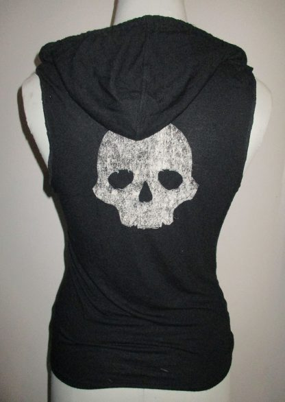 t-shirt skull nebuleux dos